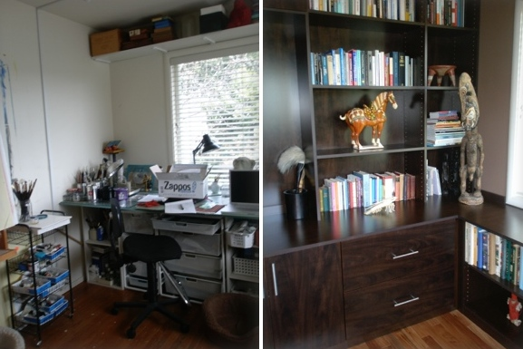 HOME OFFICE; designed by Malka of RC Cabinets & Closets