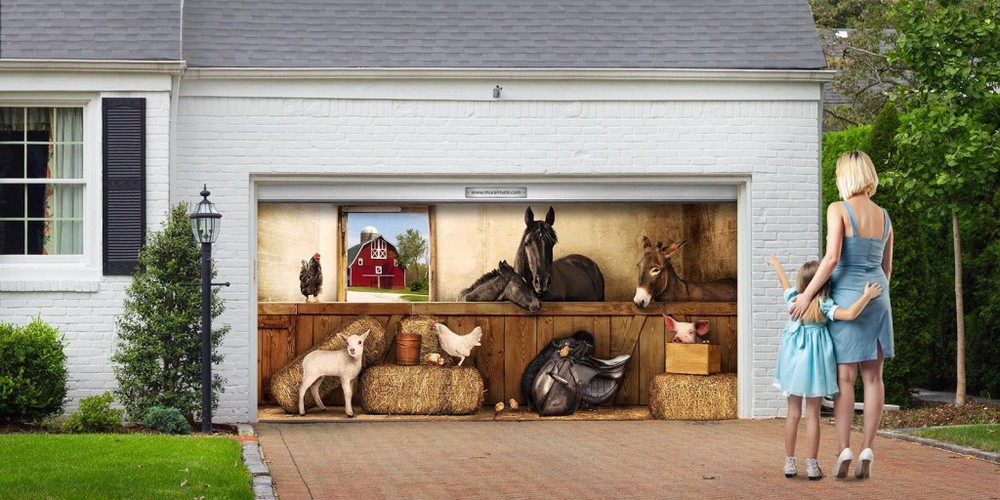 Painted Garage Door Murals