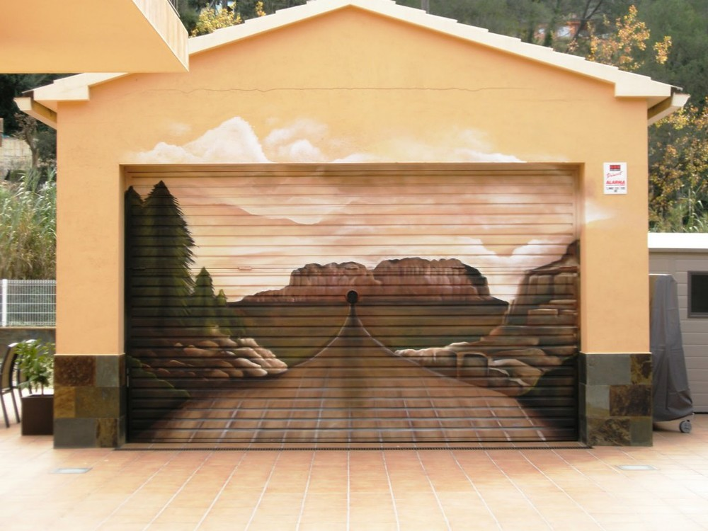 Create Garage Door Art With Garage Door Decals