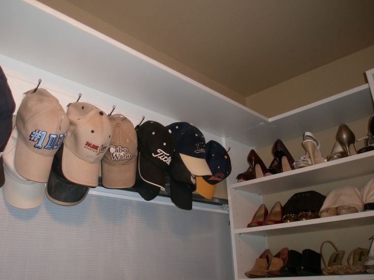 Great Very Nice And Neat Hat Storage In This San Ramon Home For Their Custom  Designed Walk In Closet. A Baseball Cap Storage That Is Easy To See And  Grab Above ...