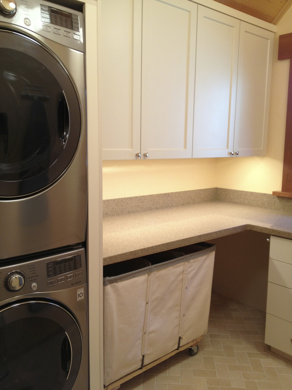 Laundry Room By RC CABINETS U0026 CLOSETS For This North Shore Lake Tahoe Home  Is Designed For This Triple Laundry Basket From Steel Canvas Of Cambridge,  ...