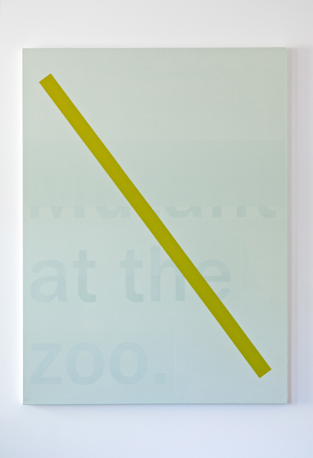 Mutant at the Zoo, 2012; acrylic on canvas; 48 x 36""