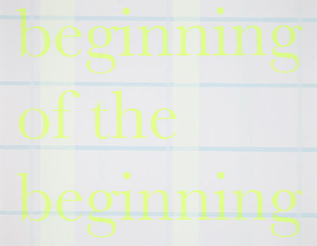 Cartoon (beginning of the beginning),  2011; acrylic & silkscreen on Rives paper