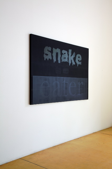 "Snake Eater, 2011,  acrylic paint on canvas 48"" X 72"""