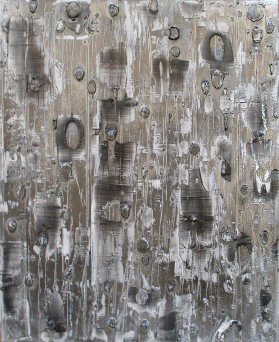 Endless Sender, 2012; Graphite and oil on canvas