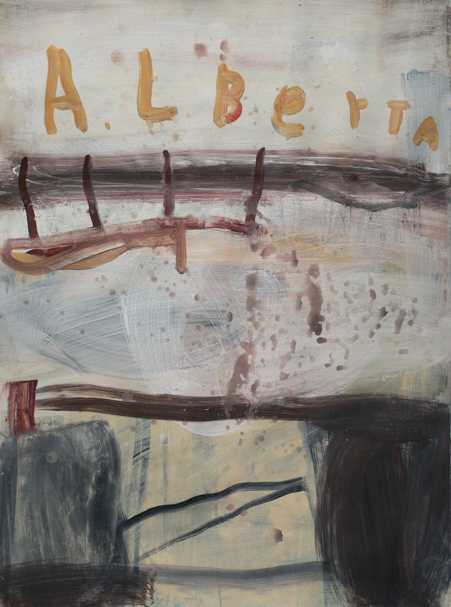 Saskatchewan, 2009; mixed media on paper mounted to panel