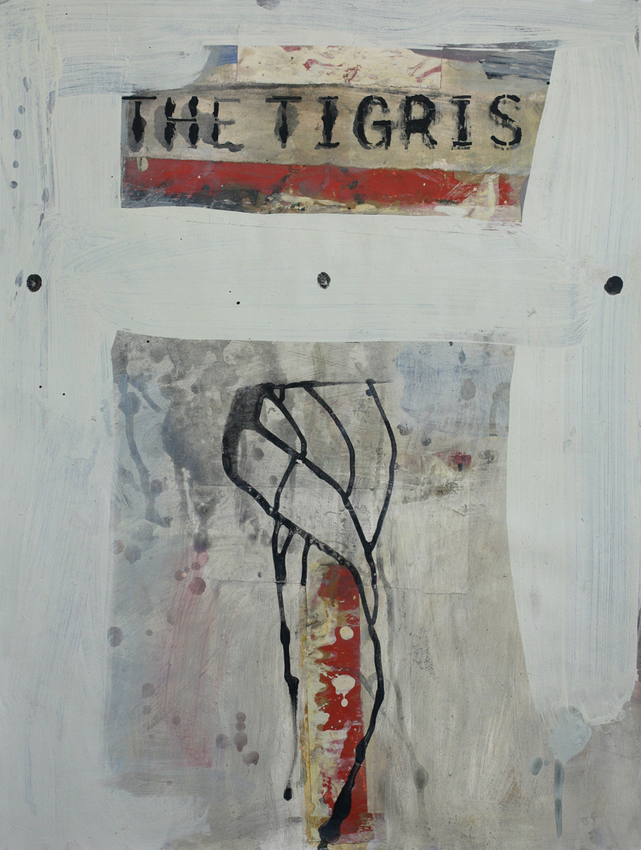 The Tigris, 2009; mixed media on paper mounted to panel