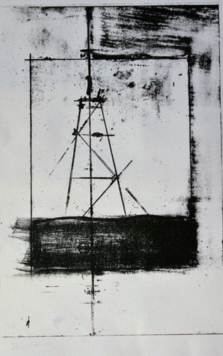 Untitled (diptych- oil)   lithograph