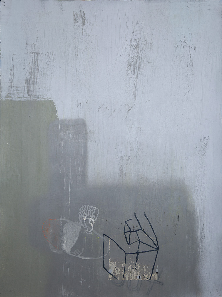 Tim Hussey, Sequestration 12, oil, mixed media on paper