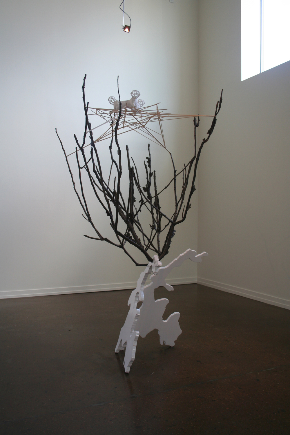 Greg Pond, Family Tree  2011, aluminum, bronze, lacquer, wood, ABS plastic