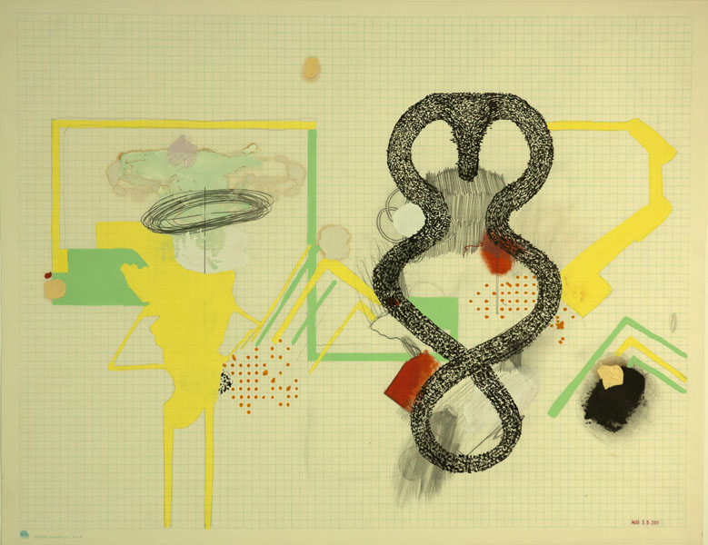 Brady Haston, August Drawing 1   2011, mixed media on paper