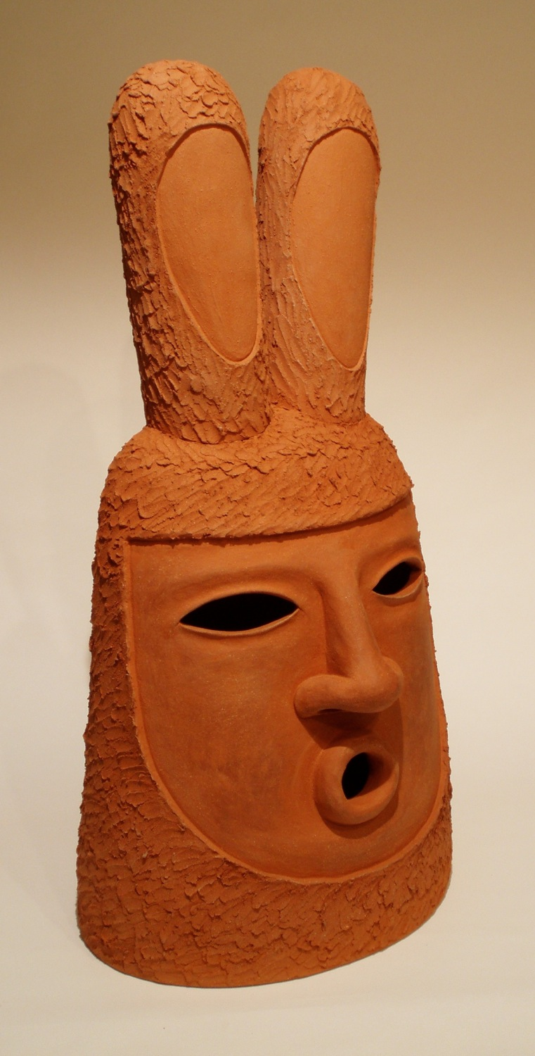 Colossal Bunny Head   pit-fired terra cotta, 2009