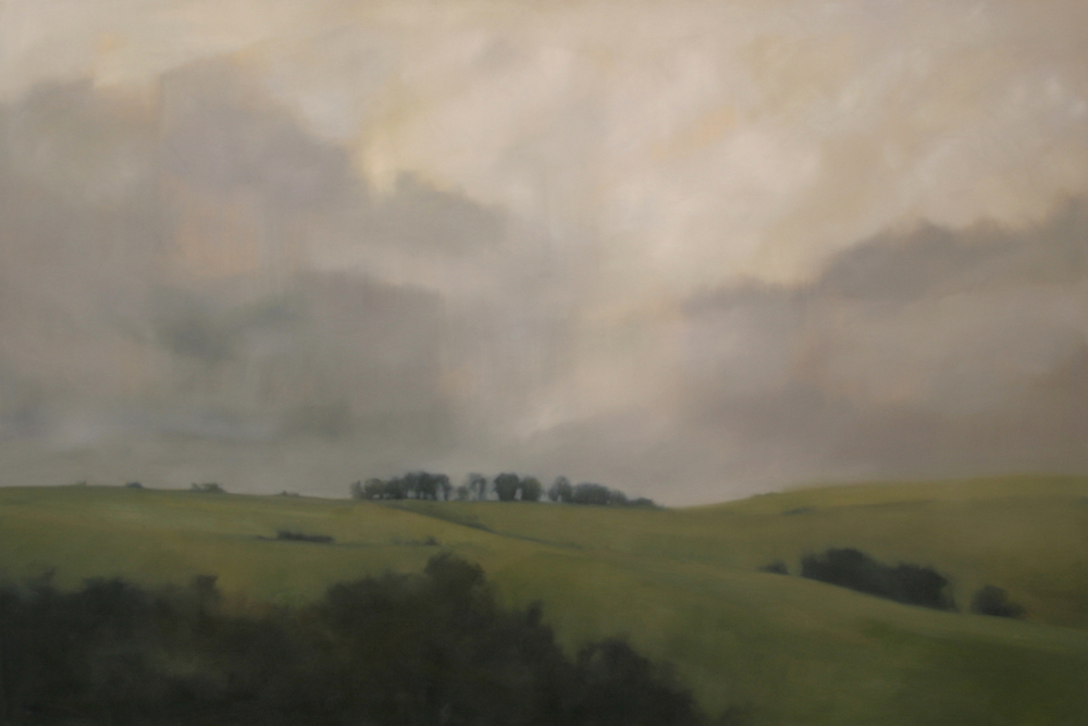 "Distant Ridge   2013, oil on canvas, 48""x72"""