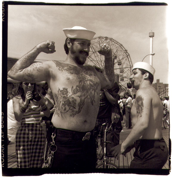 Big Moe and Little Joe, Coney Island NY, 1987
