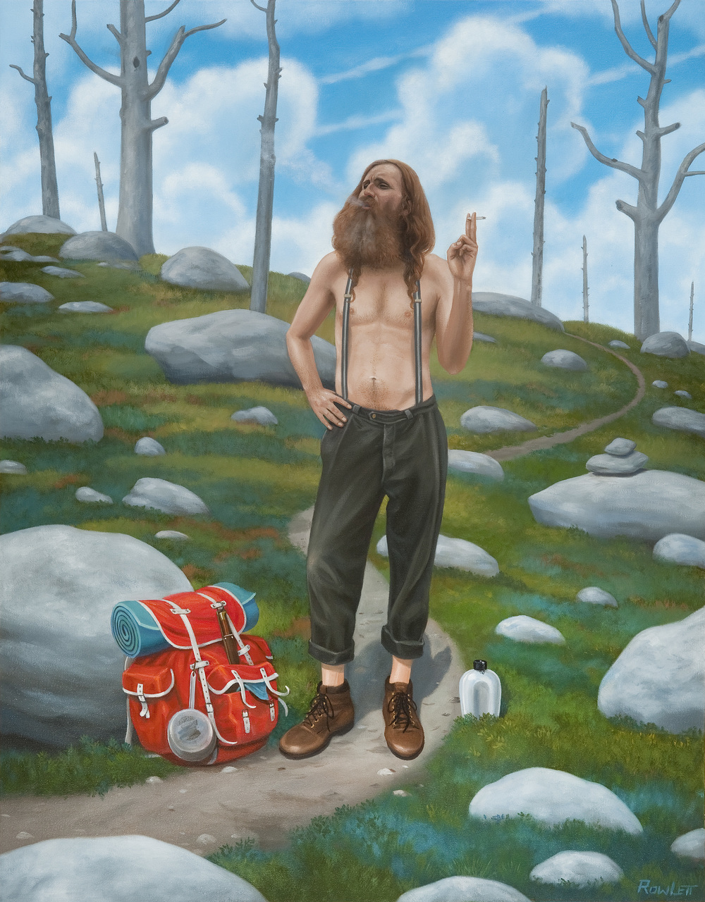"Traveler's Rest, 2013, oil on canvas, 41""x32"""