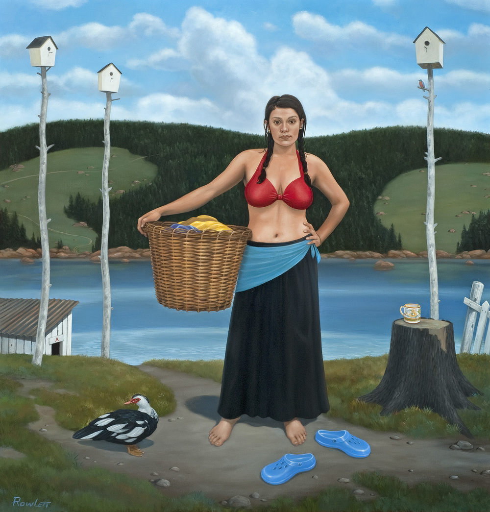 "Laundry Day (The Cleansing), oil on canvas, 2013, 42""x40"""