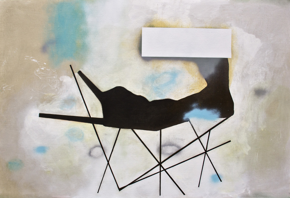 "Death Bed, 2014, oil on linen, 48"" x 60"""