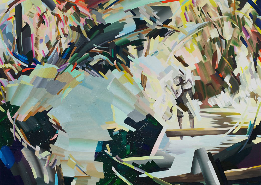 "Over Again, 2013, oil on panel, 48""x67.5"""