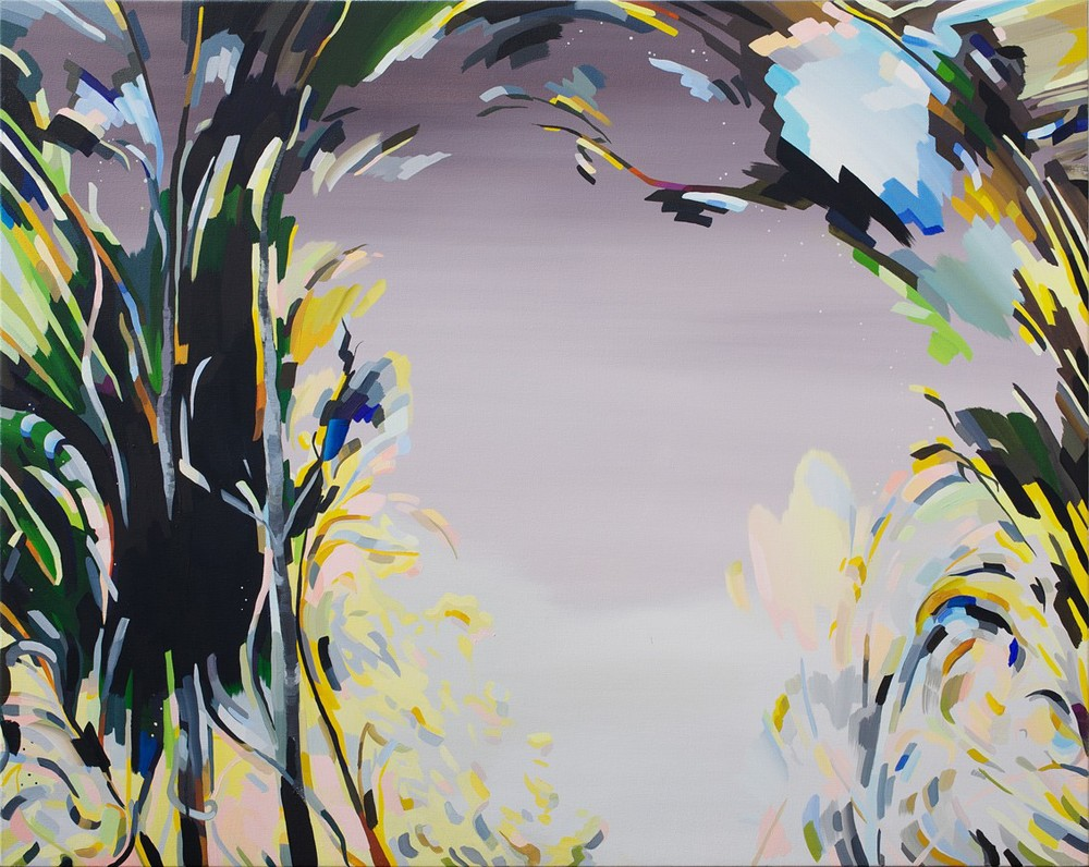 "Jumpgate, 2012, oil on canvas, 44""x56"""