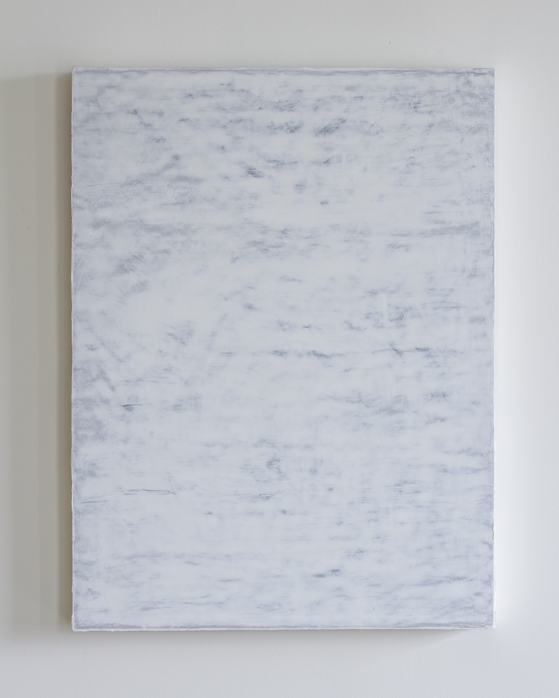 Untitled, lead white over aluminum leaf 80x60cm, 2010