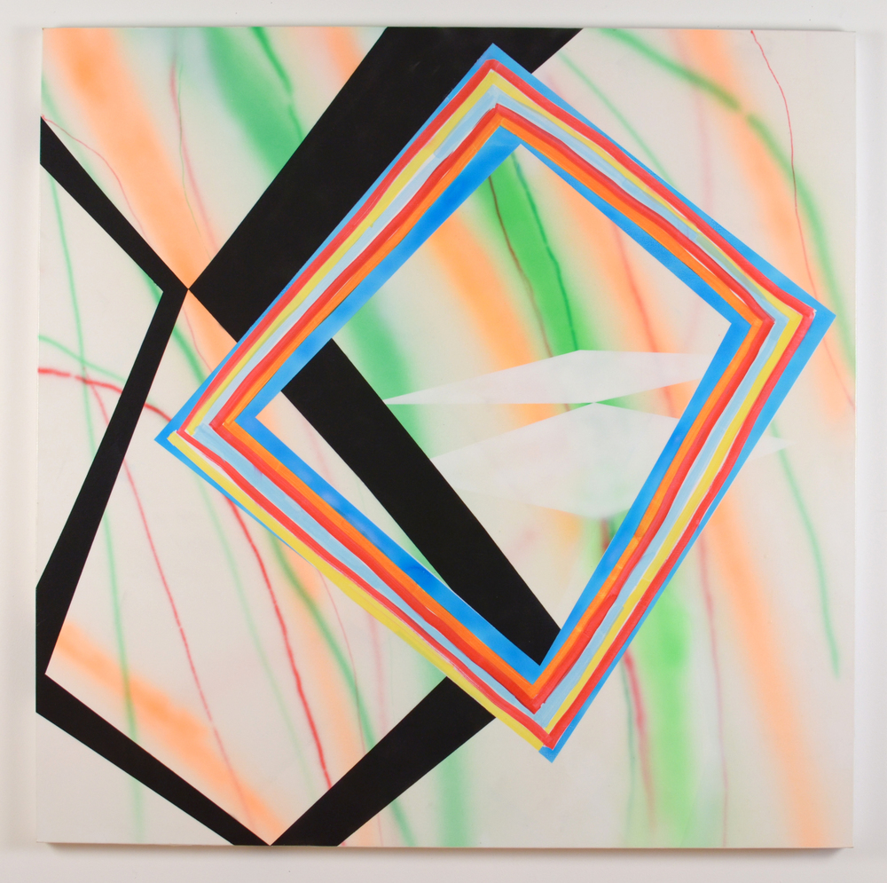 "No Passing, 2014, acrylic on canvas, 48"" x 48"""