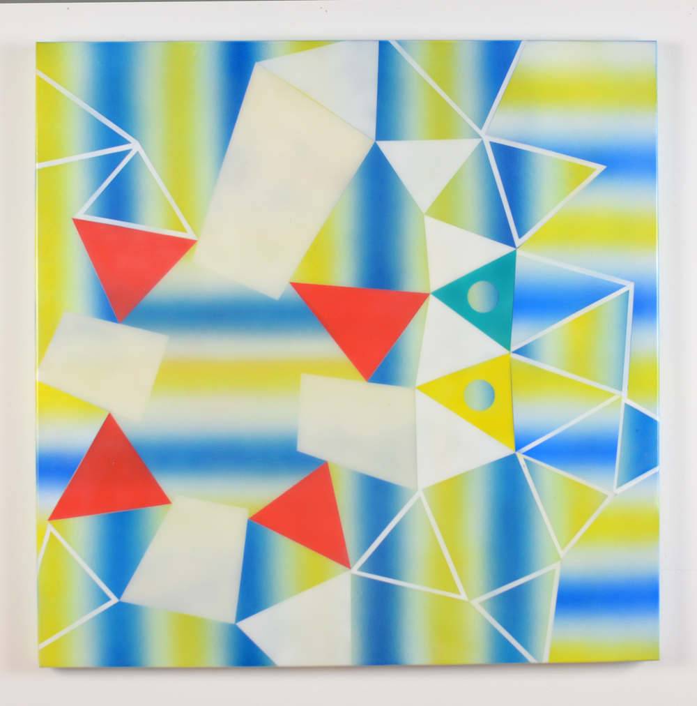 "Optical Hey! 2014, acrylic on canvas, 30"" x 30"""