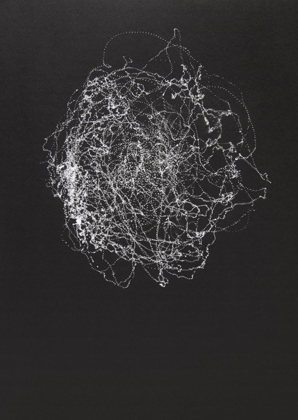 """03222016, seismogram, 19"""" x 25"""", 2016"""