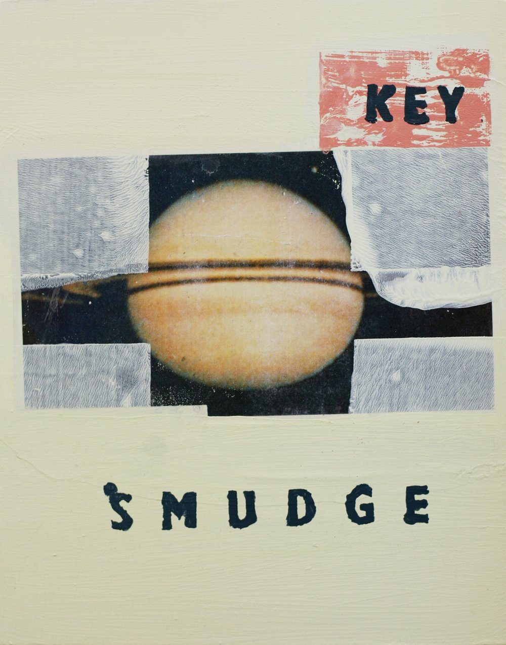 The Key Smudge  2012, acrylic and archival print on paper mounted to panel, 11 x 14""