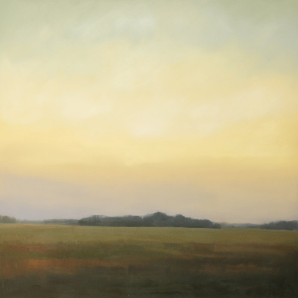 Cornelia Fort Evening, oil on canvas over panel, 48 x 48 x 2.5 in