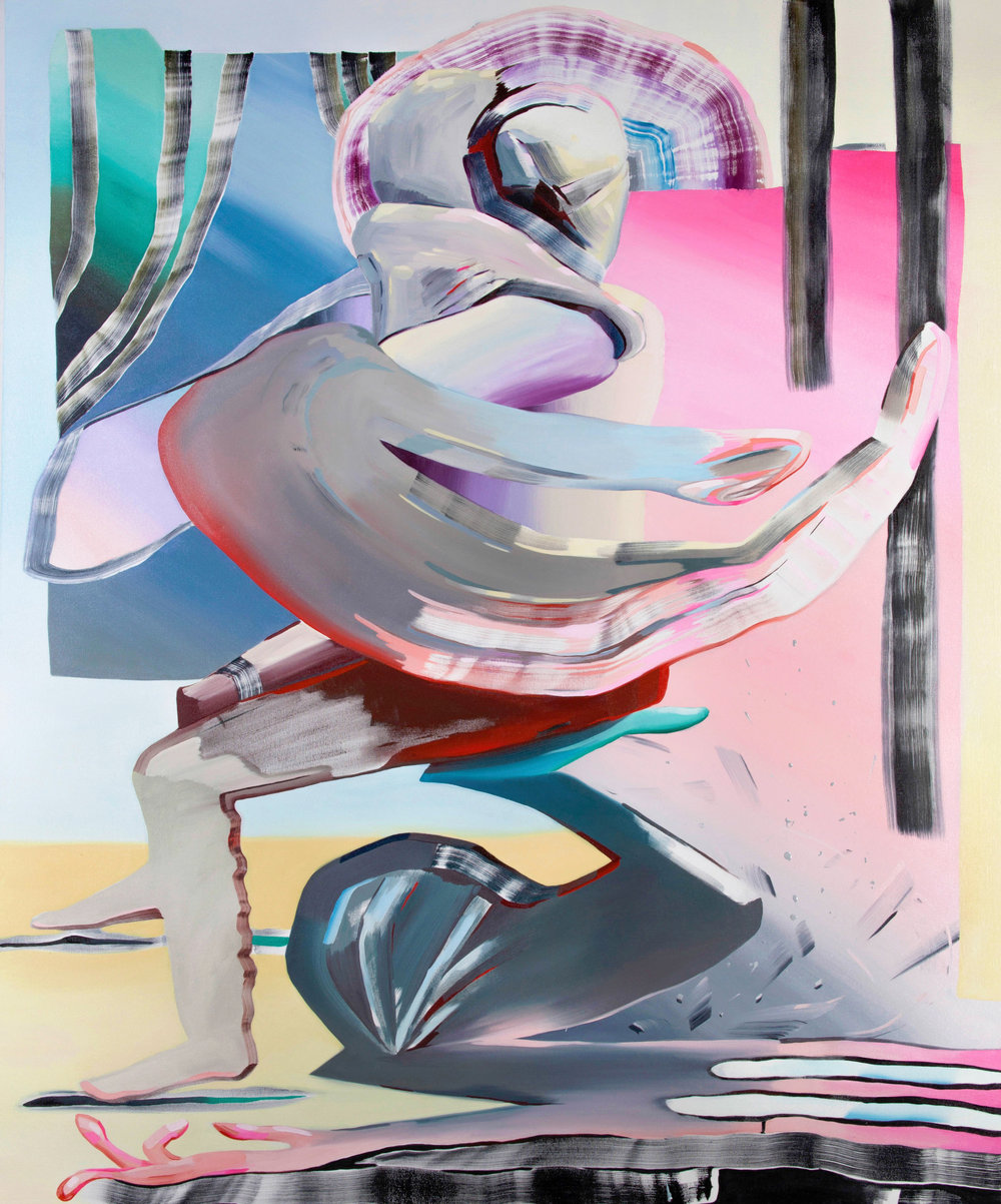 Cradle, 2016, oil on canvas, 72 x 60 inches