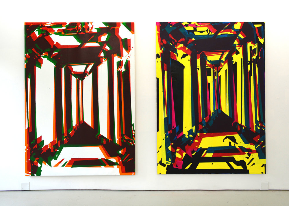 Hall of Mirrors, 84x140 inches, 2013
