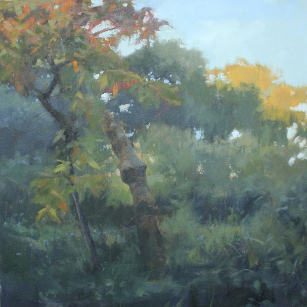 Berdelle Campbell Garden, oil on canvas over panel, 24 x 24 x 2.5 in