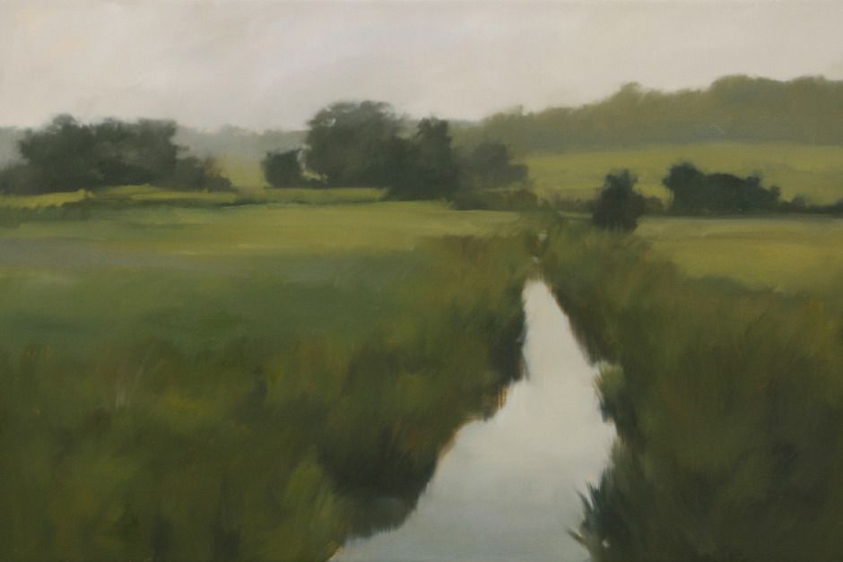 Summer Creek, oil on canvas, 24 x 36 inches