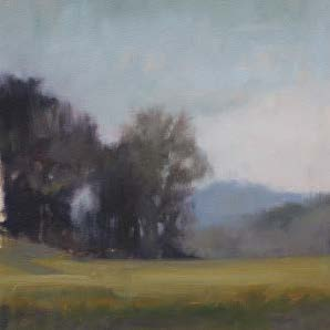 Sycamore Springs Field Study, oil on paper, 10 x 10 in