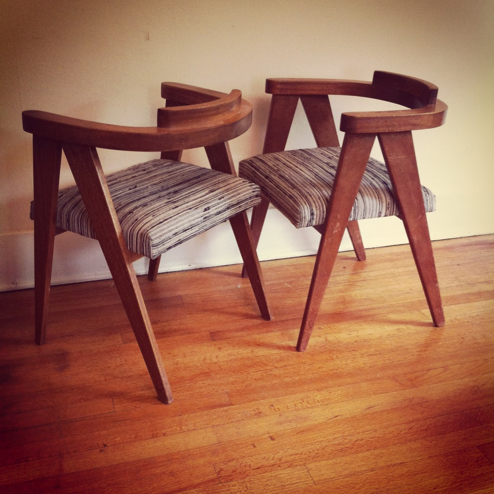 Set of mahogany side chairs - customize the new fabric