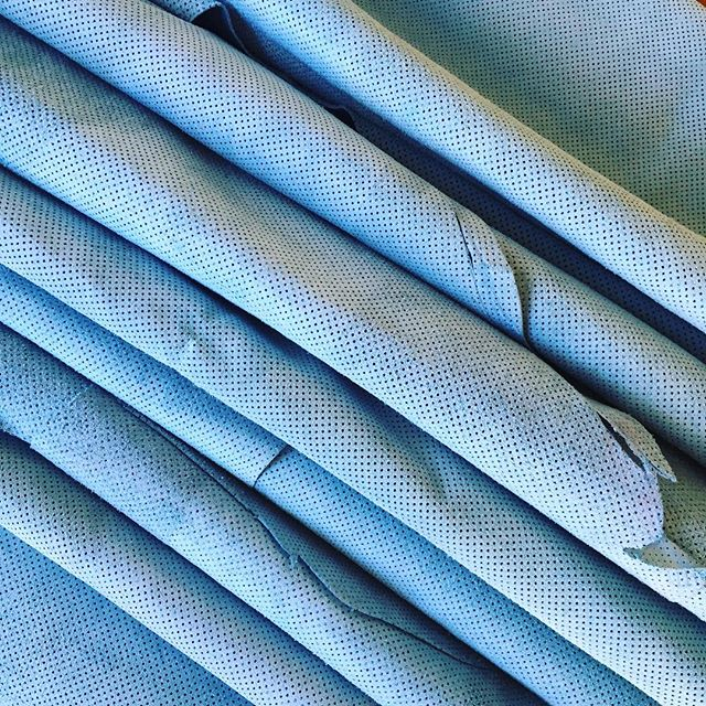 Rows of blue leather - the possibilities are endless!