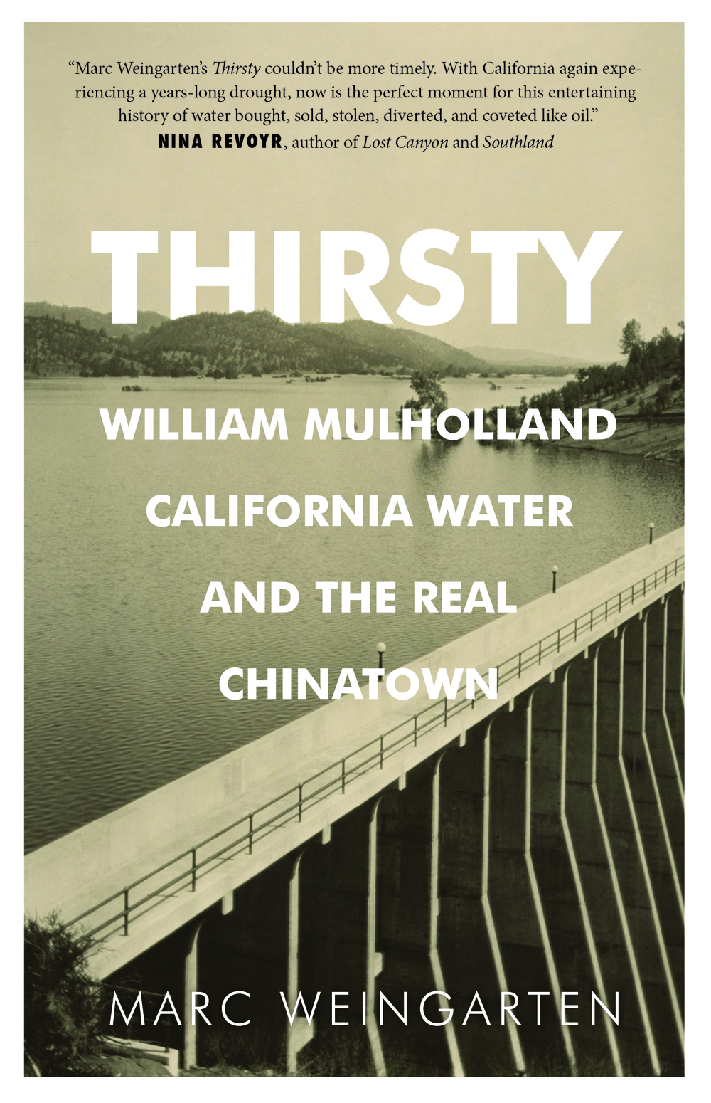 Thirsty is an exploration of Los Angeles' storied history in regards to water. Starting with William Mullholland and his aqueducts, through the 1926 collapse of the St. Francis Dam, which killed hundreds, and on through to the profound implications Los Angeles' path has for today. Where Marc Reiser's seminal 1986 book Cadillac Desert started, Marc Weingarten's Thirsty continues, illuminating the complexities of the Los Angeles aquaduct system, the politics behind supplying America's second largest city with water from hundreds of mile away, and the disaster that haunted William Mullholland until his final days.