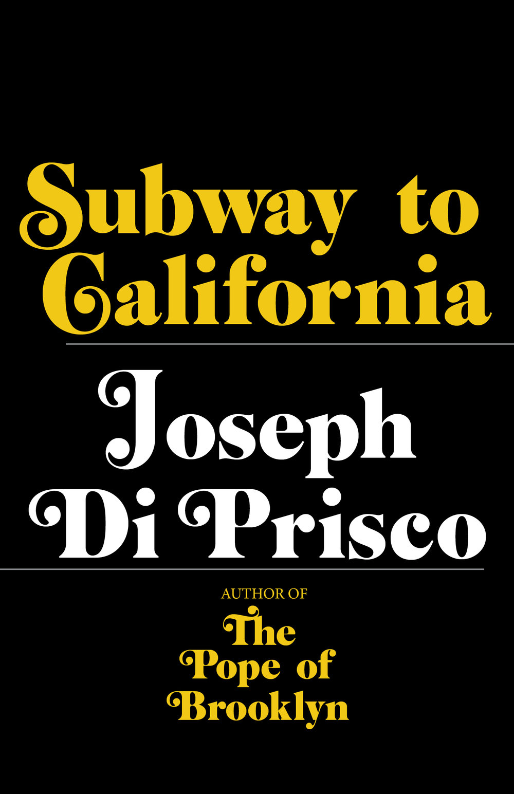 By turns hilarious and heartbreaking,Subway to Californiarecounts Joe's battles with his personal demons, bargains struck with angels, and truces with his family in this richly colorful tale that reads like great fiction.