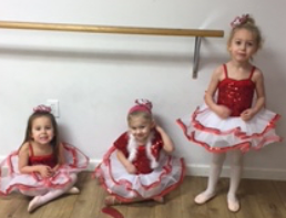 Little dancers in their first recital costume!  They are beautiful!