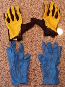 Park Tool Nitrile Mechanic's Gloves with Handup Gloves