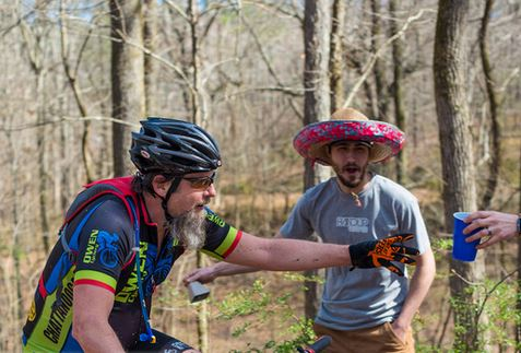 "Handup Heckle Hill - during an ""unnamed"" XC Mountain Bike Race earlier this year. (SSSHHHHH UCI would frown on this.)"