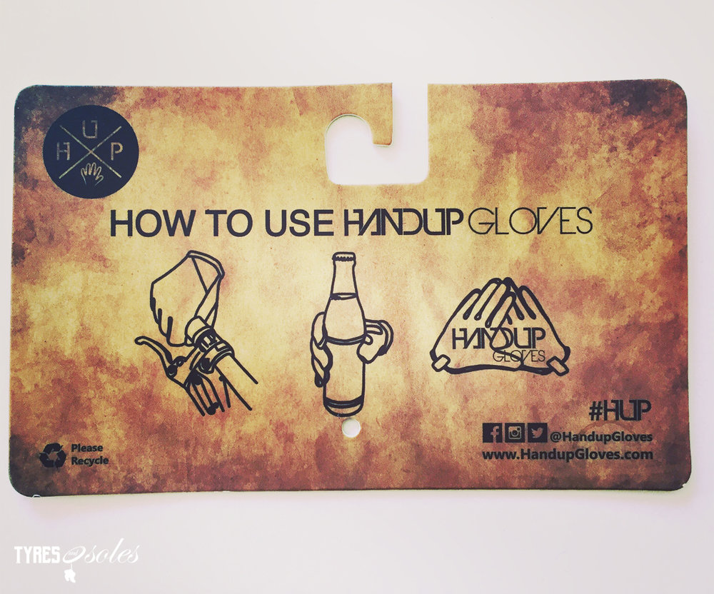 HANDUP GLOVES…Just in case you forgot how to use them. Pic: ©Jason Lorch