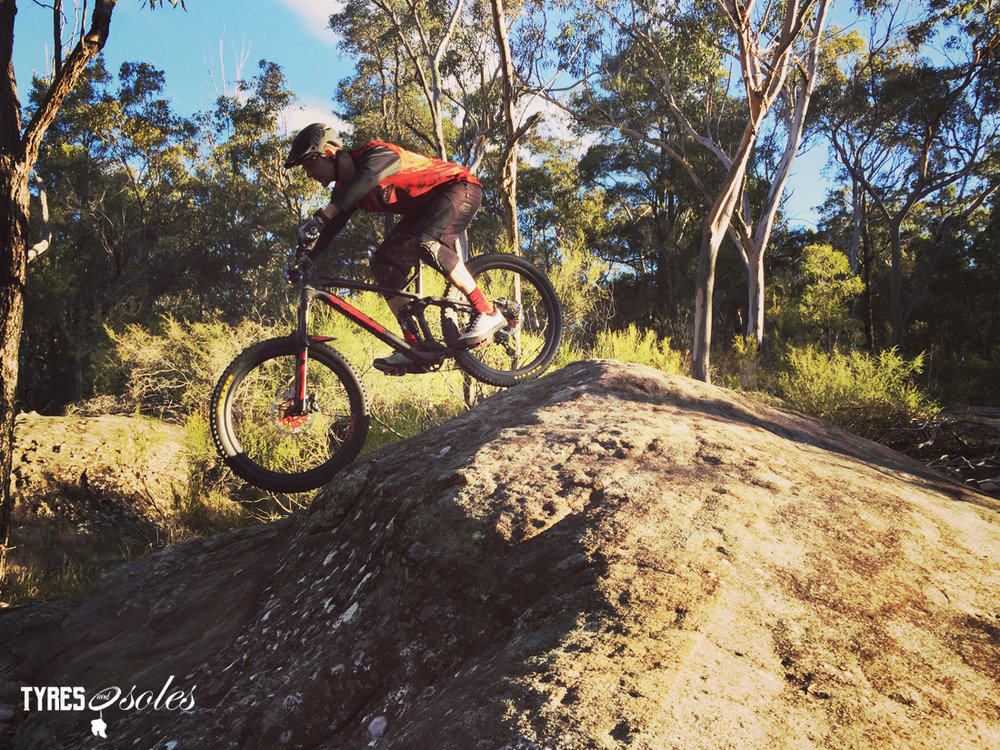 HANDUP GLOVES in action on the local trails. Pic: ©Jason Lorch
