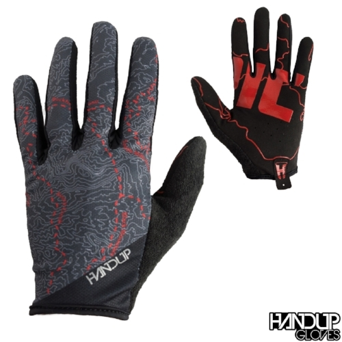 Epic - Pisgah Trail Map - Black/Red Gloves