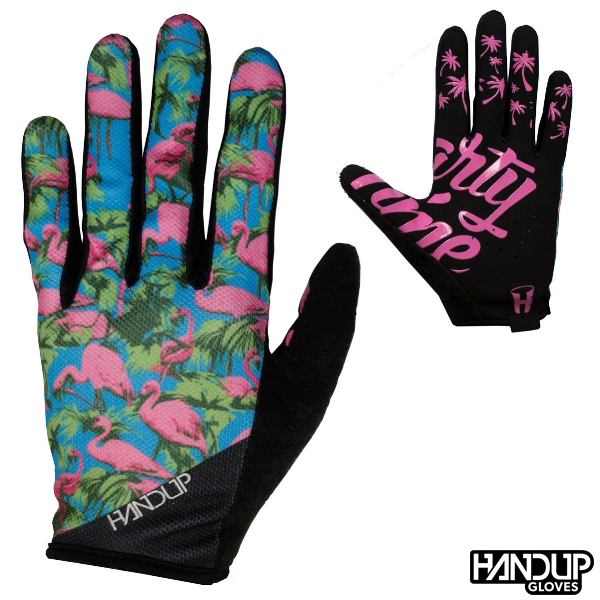 Flamingo+cycling+glove+mountain+bike+biking+handup+party+time+3.jpg