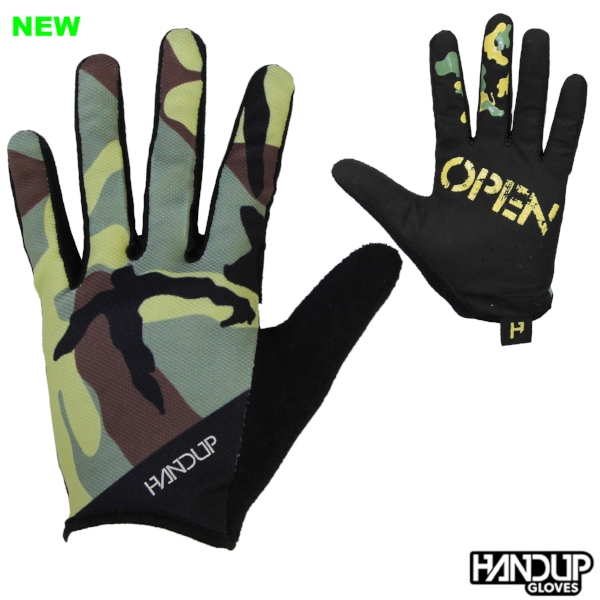 wide open camo camoflauge handup gloves long finger cycling mtb mountain bike gloves  (2).jpg