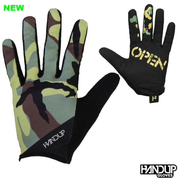wide open camo camoflauge handup gloves long finger cycling mtb mountain bike gloves  (2).jpg