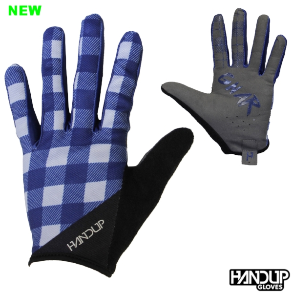 The lumberjack blue picnic mountain bike mtb long finger cycling handup gloves (3).jpg