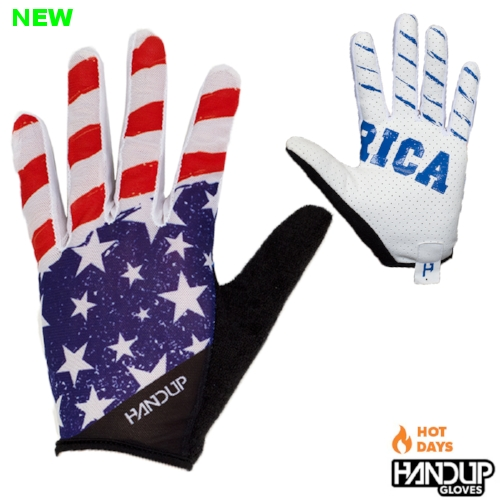 USA Merica America Light Weight Lite Summer Handup Gloves Red White and Blue