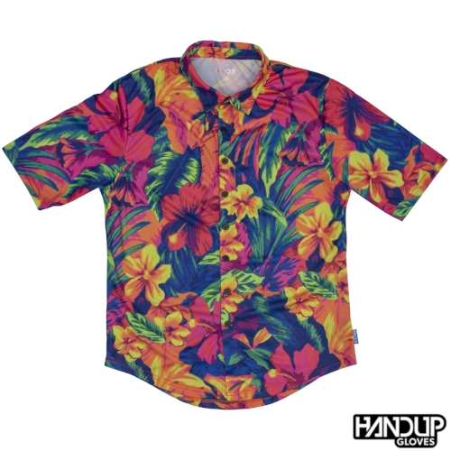 Miami Floral Full Button Mountain Bike Active Jersey